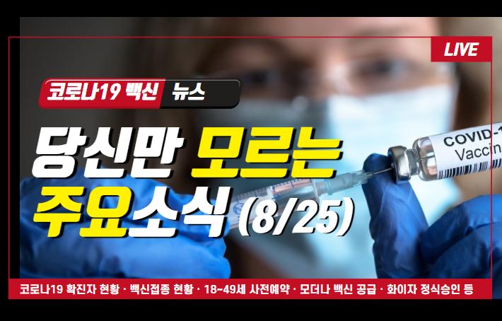 당신만 모르는 코로나19 백신 뉴스 (8/25)